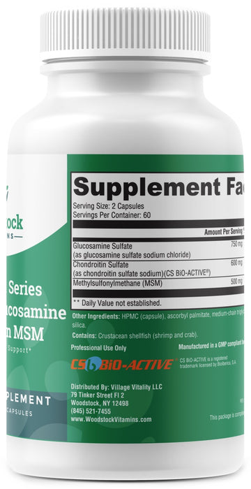 Vital Joint Series Ultra Pure Glucosamine Chondroitin MSM - 120 Capsules