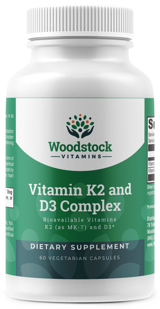 Vitamin K2 and D3 Complex - 60 Capsules