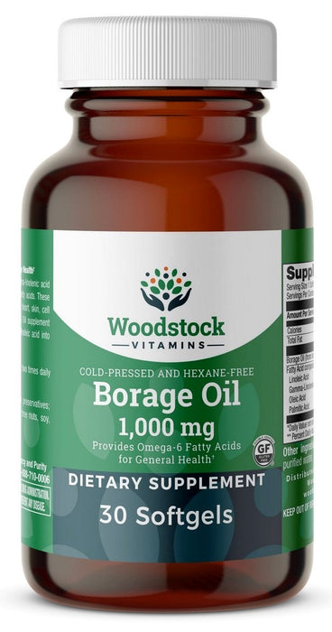 Borage Oil 1,000 mg - 30 Softgels