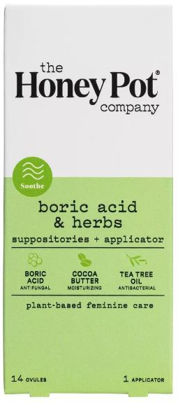 Boric Acid & Herbs Suppositories - 14 ovules
