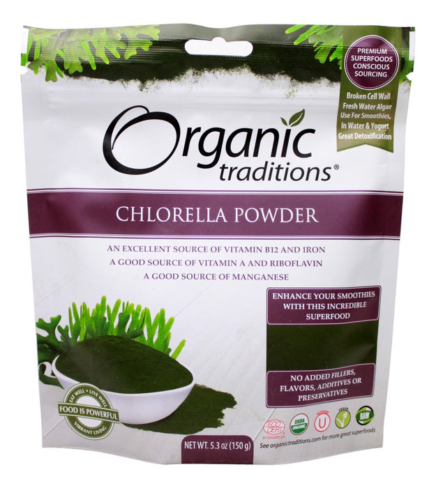 Chlorella Powder - 5.3 oz - Front