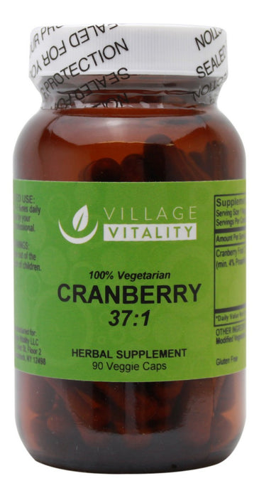 Cranberry 37:1 - 90 Capsules - Front