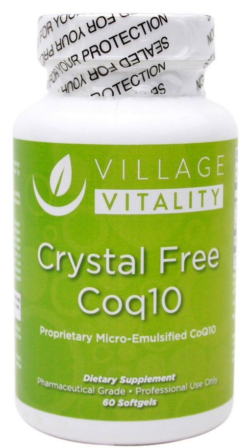 Crystal Free Coq10 - 60 softgels - Front