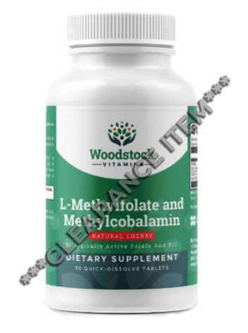 L-Methylfolate and Methylcobalamin - 30 Quick-Dissolve Tablets ***CLEARANCE ITEM***