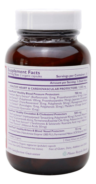 Heart Protector - 60 Capsules - Supplement Facts
