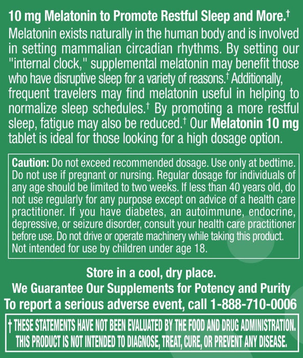 Melatonin 10mg - 60 Tablets