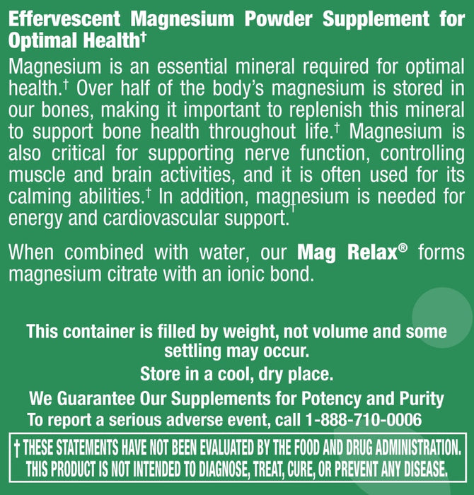 Mag Relax Powder - 5.6 oz
