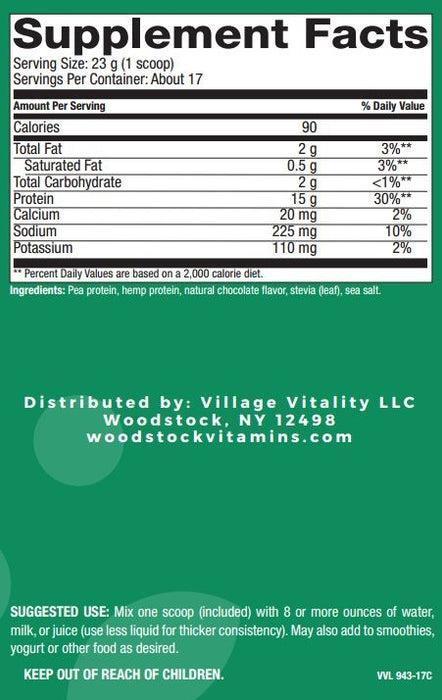 Balanced Plant Protein Blend - Natural Chocolate Flavor - 13.8 oz