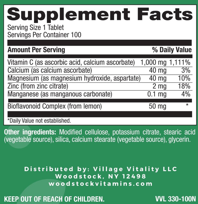 Buffered C 1,000 mg PR - 100 Tablets