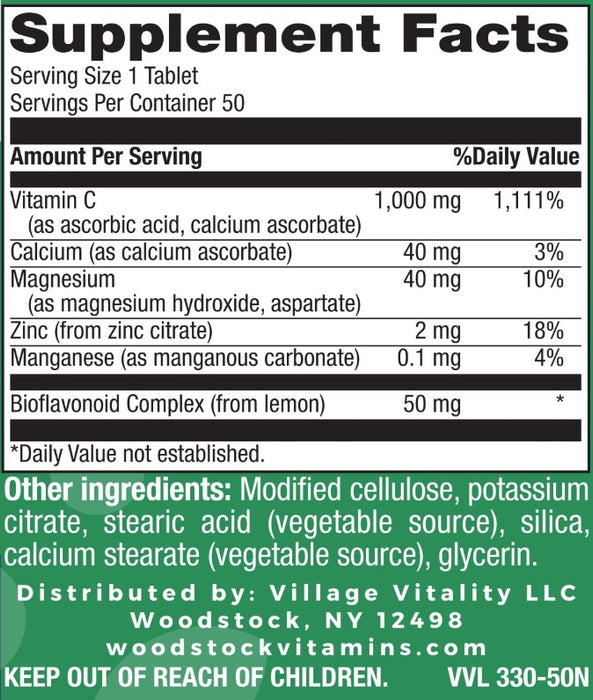 Buffered C 1,000 mg PR - 50 Tablets