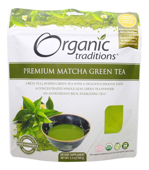 Premium Matcha Green Tea - 3.5 oz - Front