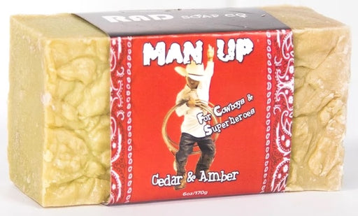 Man Up Cedar & Amber Soap - 1 Bar