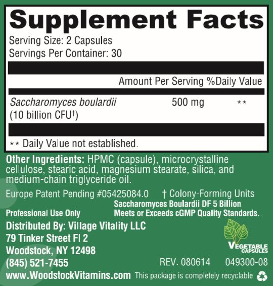 Saccharomyces Boulardii DF 5 Billion - 60 Capsules