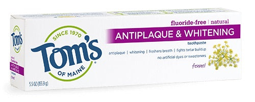 Fennel Antiplaque & Whitening Toothpaste - 5.5 oz