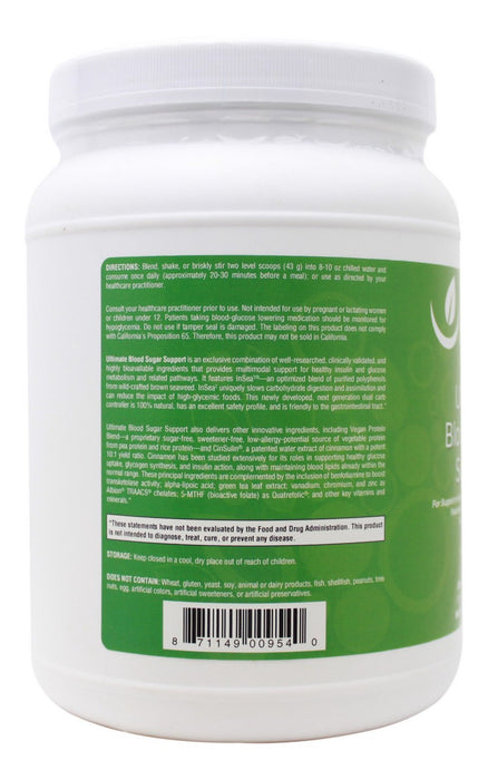 Ultimate Blood Sugar Support - 21.23 oz Powder - Info