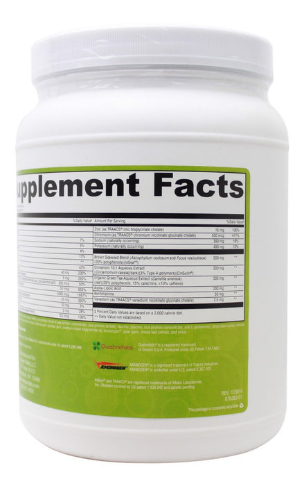 Ultimate Blood Sugar Support - 21.23 oz Powder - Supplement Facts 2