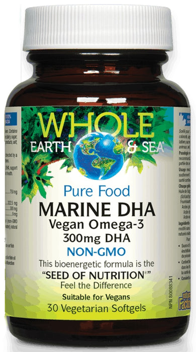 Marine DHA Vegan Omega-3 300mg - 30 Softgels