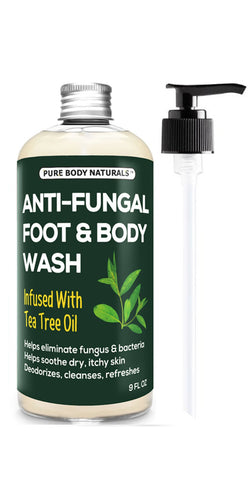 Tea Tree Oil Body & Foot Wash, 9 fl.oz by Pure Body Naturals