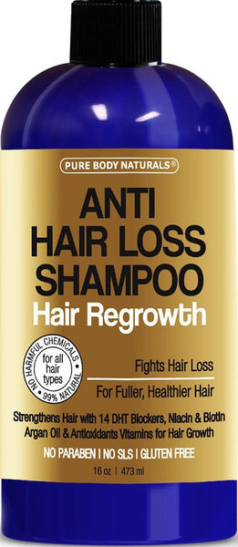 Sulfate-Free, Moroccan Argan Oil and Biotin Shampoo for Hair Loss - 16 Oz