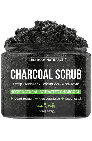 Activated Charcoal Detox Scrub with Coconut Oil