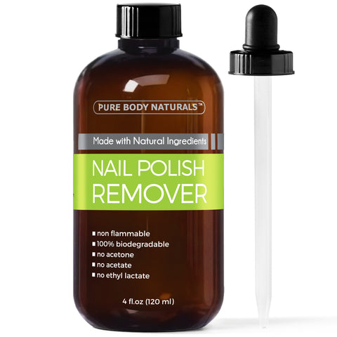 Nail Polish Remover - Non-Toxic, Acetone-Free Nail Polish Remover, Effective Nail Polish Remover, Moisturizes Cuticles Strengthens Weak Nails 4oz
