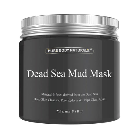 Dead Sea Mud Mask Deep Skin Cleanser for Face and Body, 8.8 -ounce
