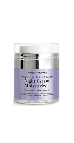 Night Cream Moisturizer for face, with Retinol Cream and Organic Shea Butter