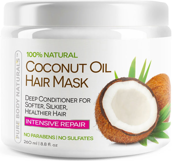Sulfate-Free Organic Coconut Oil Hair Treatment Mask - 8.8 Oz