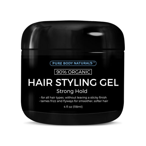 Strong Hold Hair Styling Gel for Men - 4 Oz