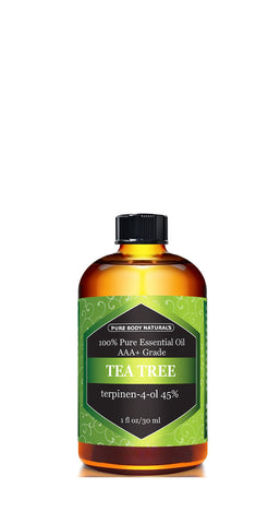 Tea Tree Oil - Triple AAA+ Grade Essential Oil 1 fl. Oz by Pure Body Naturals