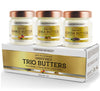 Triple Butters Gift Set - Shea Butter Cocoa Butter and Mango Butter Unrefined 100% Pure & Natural (3 jars x 8 oz )