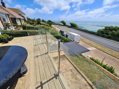Glass Balustrade on Isle of Wight