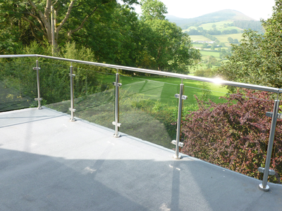 Stunning Glass Balustrade - North Wales