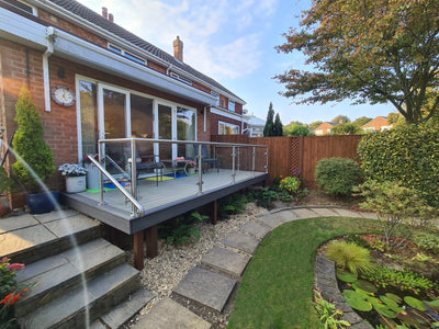 Composite Decking + Glass Balustrade