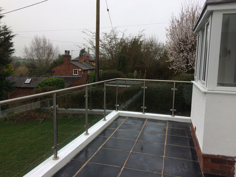 Glass Balustrade Project - Before and After