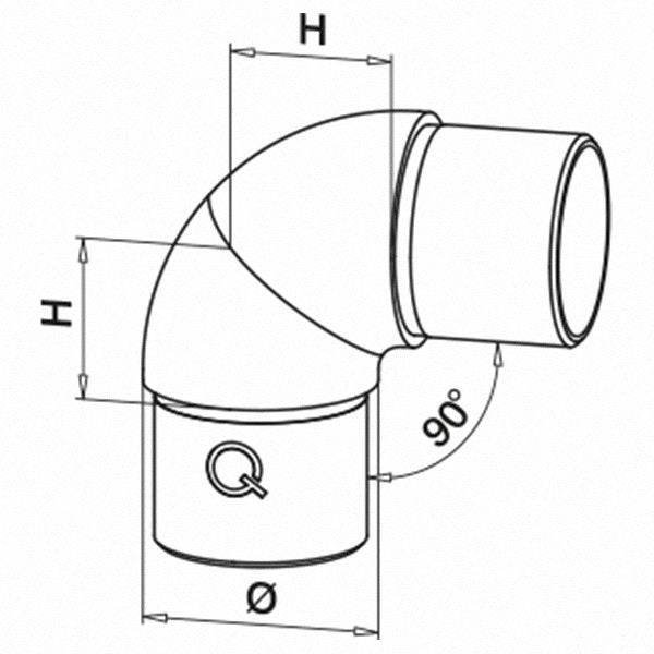 "Adjustable ""Revolving"" elbow - Q line"