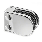 Stainless Steel Glass Clamp -  Flat Back