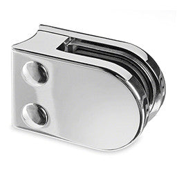 Stainless Steel Glass Clamp -  Round Back