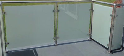 10 mm Toughened Etched Glass (Frosted Effect)