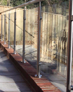Toughened glass in a glass balustrade system
