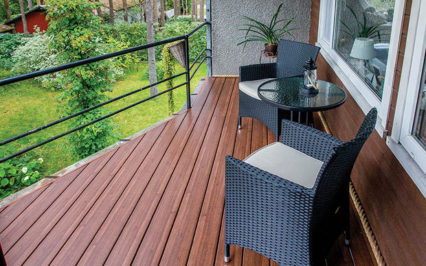 Premium Dark Oak Composite Decking