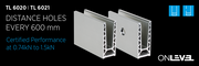 Onlevel TL 6020 frameless glazing channel