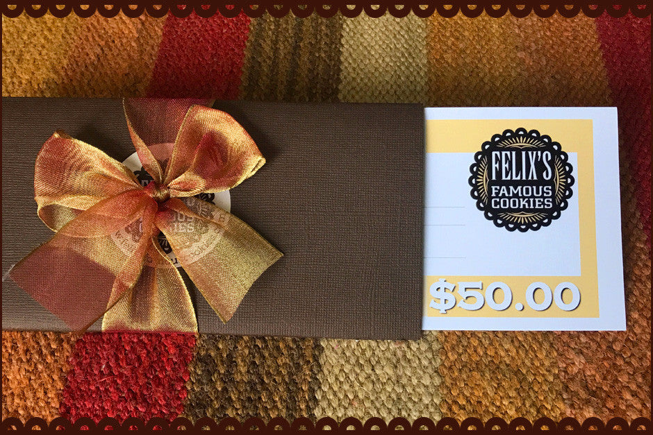 $50 Gift Certificate - Perfect for Anyone who Loves Cookies
