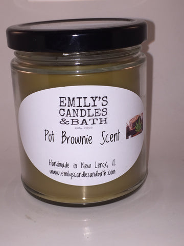 9 Oz. Soy Jar  Candle Pot Brownie Scented