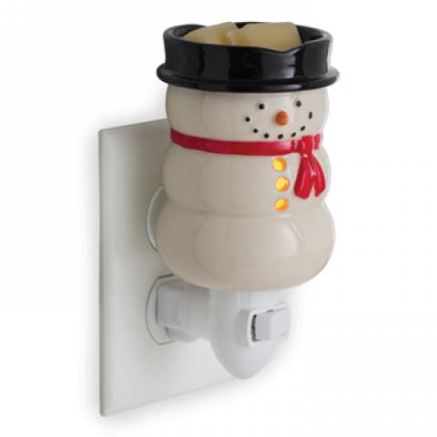 Plug in Tart Burner - Snowman