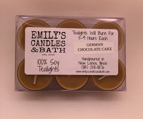 Dozen 100% Soy Tealights Christmas Scents