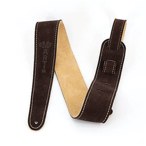 CF Martin 18A0017 Brown Suede Leather Guitar Strap