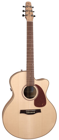 Seagull Performer Series Cutaway Mini Jumbo Flame Maple Q1 Acoustic-Electric