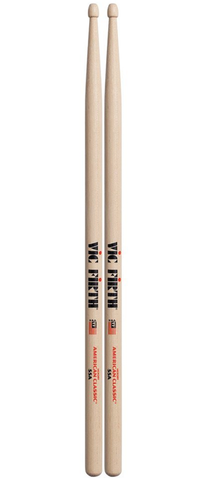 Vic Firth 55A American Classic Hickory Drumsticks, Wood Tip