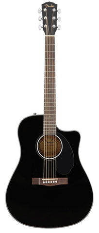 Fender CD-60SCE Dreadnought Cutaway Acoustic-Electric - Black